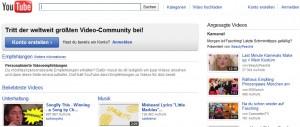 Screenshot von YouTube