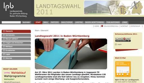Landtagswahl: Die Landeszentrale für politische Bildung bietet umfangreiche Informationen