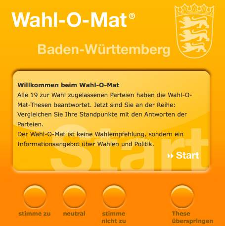 Landtagswahl 2011 in Baden-Württemberg – Angebote im Netz