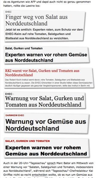 """Vergurkte Berichterstattung – Panikmache made by """"Qualitätsjournalismus"""""""