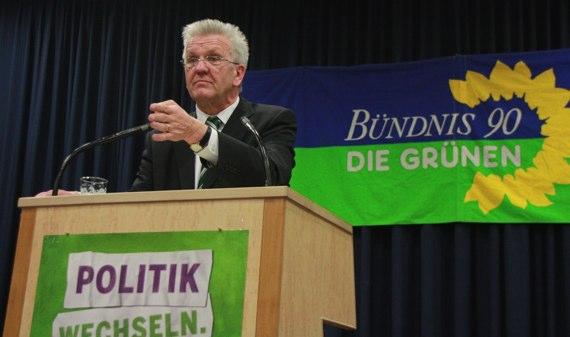Winfried Kretschmann als Ministerpräsident vereidigt