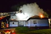 Bammental: Wohnhaus abgebrannt