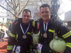Team aus Edingen schafft 770 Stufen in 9 Minuten 18 Sekunden