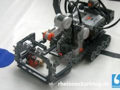 Der Lego-Roboter von Ute Ihme birgt ein Marsmobil