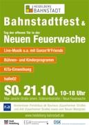 Bahnstadtfest am 21. Oktober