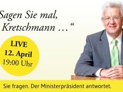 Online-Fragestunde mit dem Ministerpräsidenten