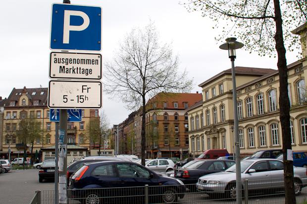 Parkplatz Mannheim