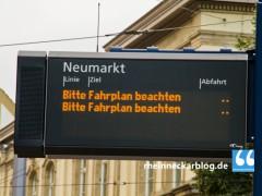 Umleitung der Linie 33 in Heidelberg-Rohrbach