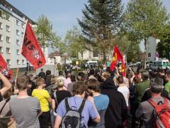 Gegendemonstranten frustrieren Neo-Nazis