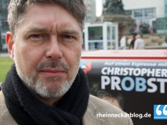 Oberbürgermeisterkandidat Christopher Probst (ML) besucht AfD