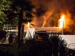 Fotostrecke: Sauna im Außenbereich in Brand