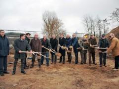 Spatenstich für den Neubau der Louise-Otto-Peters-Schule