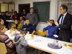 Flüchtlinge holen Oberbürgermeister