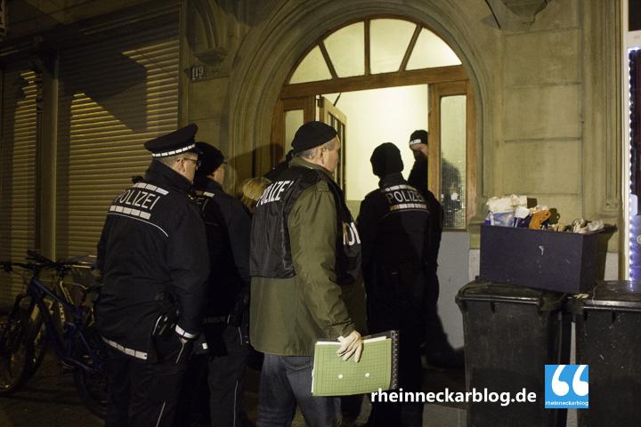 Polizei Razzia Mittelstraße Mannheim-19. Januar 2016-IMG_3631