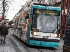 Verkehrsunfall zwischen Straßenbahn und Fahrrad