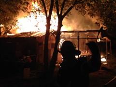 Unbeaufsichtigtes Feuer bei Leutershausen