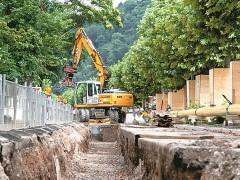 Baustellen im Stadtgebiet Heidelberg