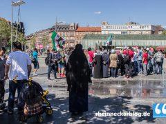 80 Syrer fordern in Mannheim Solidarität mit Aleppo