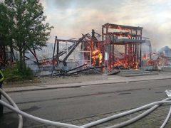 Großbrand in Landau. Foto: Polizeipräsidium Rheinpfalz