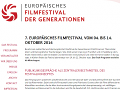 Eröffnung des 7. Filmfestivals der Generationen