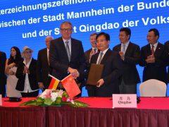 Mannheim und Qingdao sind jetzt Partnerstädte