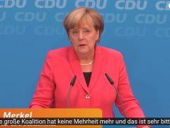 Bundeskanzlerin Dr. Angela Merkel nach der Wahl zum Abgeordnetenhaus Berlin auf deiner Pressekonferenz der CDU. Quelle: CDU