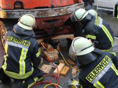 Feuerwehr-Übung in Leimen