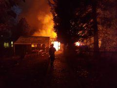 Brand auf ehemaligem Campingplatz