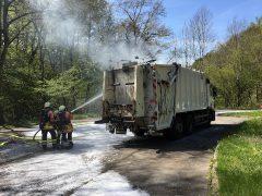 Müllwagenbrand auf der L 536