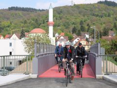 Langmaasbrücke im Weinheimer Norden als Fahrradbrücke eingeweiht