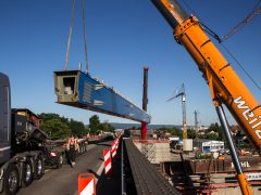 150 Tonnen Stahl am Haken