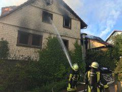 Fachwerk-Gebäude in Weinheim ausgebrannt