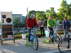 Fahrrad. Kino. Action!