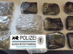 1,7 Kilo Marihuana bei Polizeikontrolle entdeckt