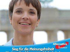 AfD-Bundessprecherin Dr. Petry gratuliert Rheinneckarblog