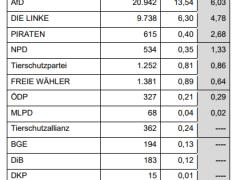 Amtliches Endergebnis im Wahlkreis 277 Rhein-Neckar festgestellt