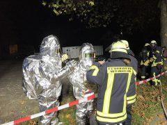 Explosiver Stoff sorgt für Feuerwehreinsatz