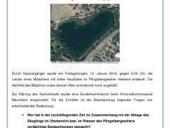 Babyleiche am Pfingstbergweiher – Polizei sucht nach Zeugen