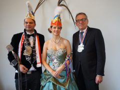 Oberbürgermeister Dr. Kurz empfängt Stadtprinzenpaar im Rathaus