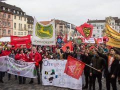 Zentraler Warnstreik der IG Metall in Mannheim