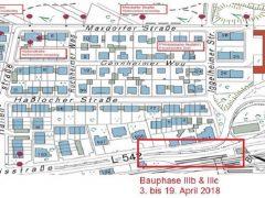 Sperrung der Relaisstraße für Ausbau Rheinau Bahnhof