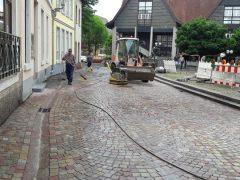 Pflasterarbeiten an Ladenburger Hauptstraße beendet