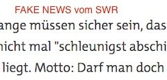 Fake News-Schleuder SWR