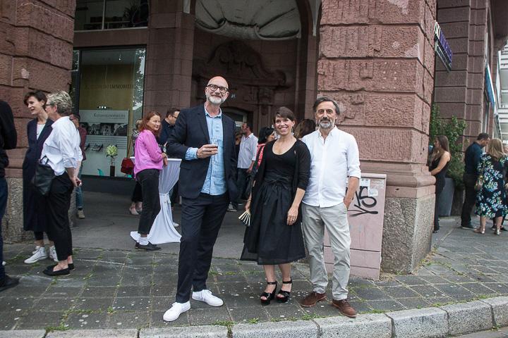 Daniel Lukac, Ann-Christin Schuhmacher, Rainer Diehl. Gute Laune nach harter Arbeit.