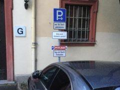 Just kommt schneller in Weinheim an als gedacht – einen Parkplatz hat er schon
