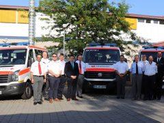Vier neue Mannschaftstransportwagen für den Katastrophenschutz im Rhein-Neckar-Kreis