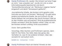 Abmahnung kurios: Kontext löscht alle Kommentare von Hardy Prothmann
