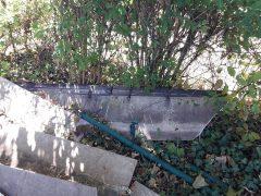 Illegal asbesthaltigen Abfall entsorgt