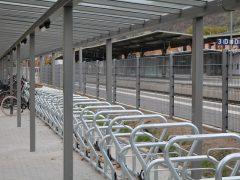 Neue Fahrradständer am Bahnhof