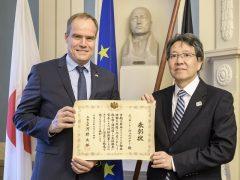 Oberbürgermeister Prof. Würzner für Verdienste um deutsch-japanische Freundschaft ausgezeichnet